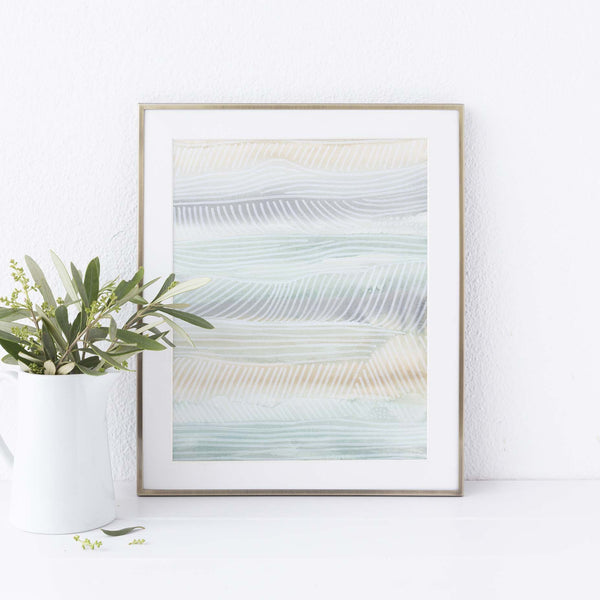 Soft Pastel Abstract Surfer Decor Beach House Wall Art Print or Canvas - Jetty Home