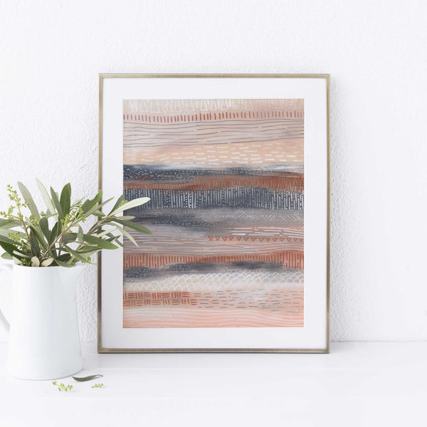 Modern Tribal Home Decor Desert Painting Wall Art Print or Canvas - Jetty Home