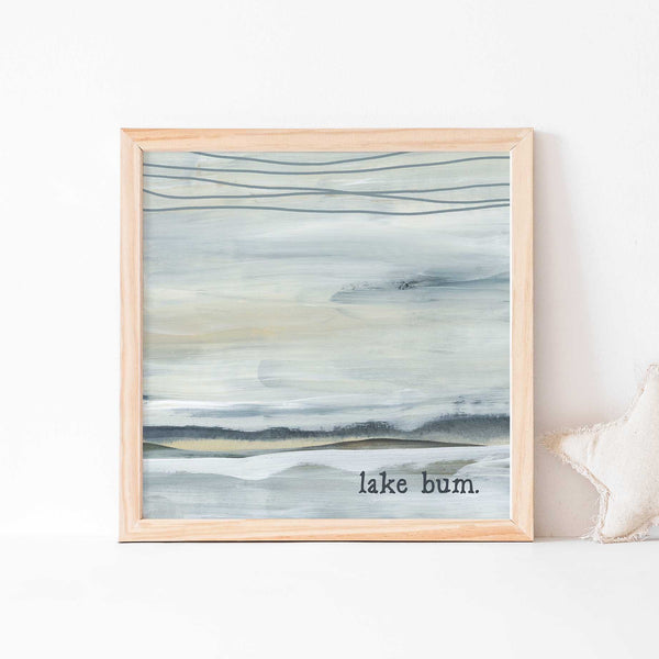 Lake Bum Neutral Modern Wall Art Print or Canvas - Jetty Home