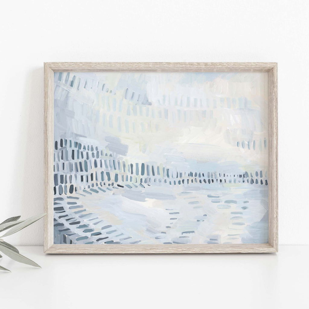 Modern Coastline Beach House Painting Wall Art Print or Canvas - Jetty Home