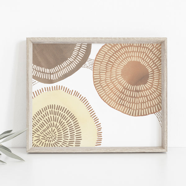 Circle Abstract Shape Mid Century Modern Wall Art Print or Canvas - Jetty Home