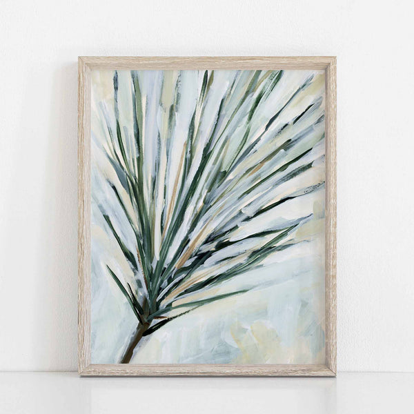 Pine Needles Painting Forest Winter Wall Art Print or Canvas - Jetty Home