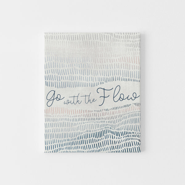 "Modern Coastal ""Go with the Flow"" Wall Art Print or Canvas - Jetty Home"