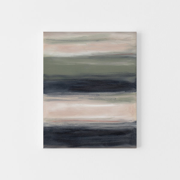 Beige and Green Modern Minimalist Landscape Abstract Wall Art Print or Canvas - Jetty Home