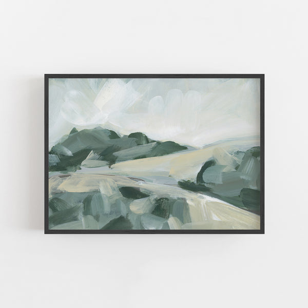 Rolling Hills Neutral Landscape Painting Wall Art Print or Canvas - Jetty Home