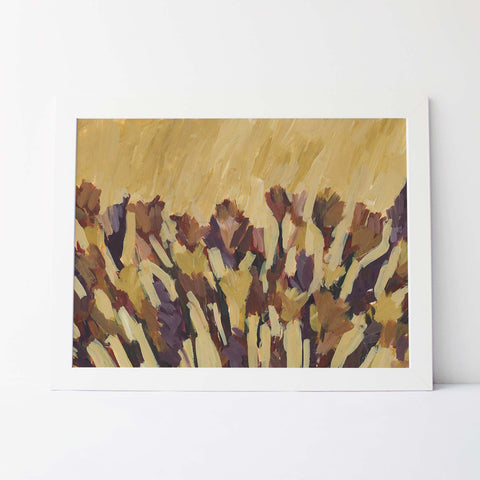 Wildflower Abstract Earthy Painting Wall Art Print or Canvas - Jetty Home