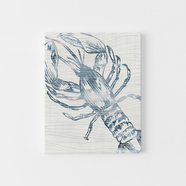 Modern Lobster Nautical Watercolor Coastal Wall Art Print or Canvas - Jetty Home