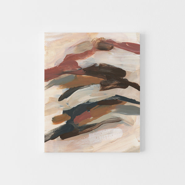 Brown, Rust, Orange and Beige Abstract Painting Wall Art Print or Canvas - Jetty Home