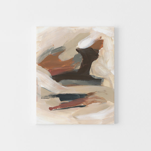Earth Tones Trendy Abstract Neutral Warm Painting Wall Art Print or Canvas - Jetty Home