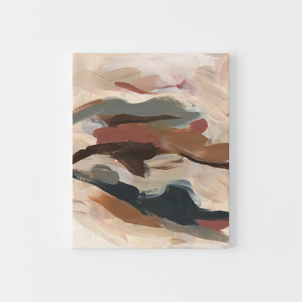 Flowy Modern Abstract Painting Warm Tones Wall Art Print or Canvas - Jetty Home
