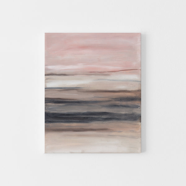 Blush and Beige Modern Minimalist Abstract Painting Wall Art Print or Canvas - Jetty Home