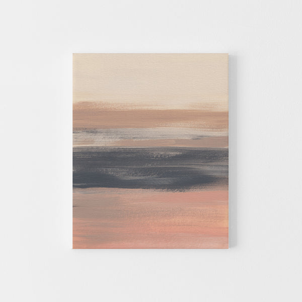 Warm Neutral Modern Desert Landscape Painting Wall Art Print or Canvas - Jetty Home