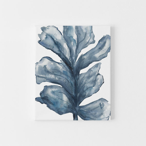 Blue Sea Lettuce Watercolor Art Print or Canvas - Jetty Home