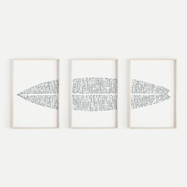 Modern Surfboard Beach House Triptych Set of Three Wall Art Prints or Canvas - Jetty Home