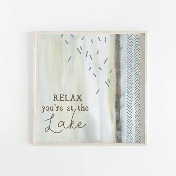 Relax You're At the Lake Modern Neutral Wall Art Print or Canvas - Jetty Home