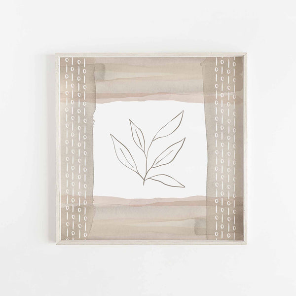 Line Botanical Modern Minimalist Neutral Earthy Wall Art Print or Canvas - Jetty Home