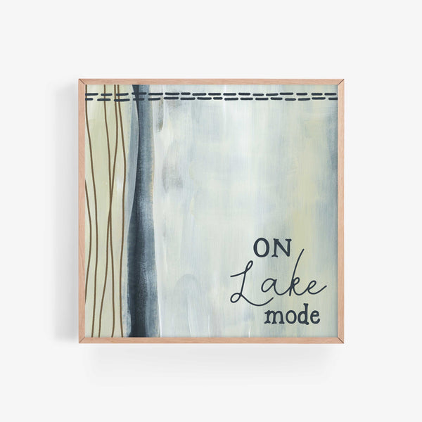 On Lake Mode Neutral Modern Wall Art Print or Canvas - Jetty Home
