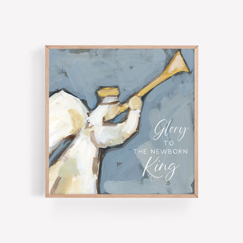 Glory to the Newborn King Modern Christmas Painting Wall Art Print or Canvas - Jetty Home