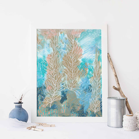 Modern Underwater Ocean Painting Wall Art Print - Jetty Home