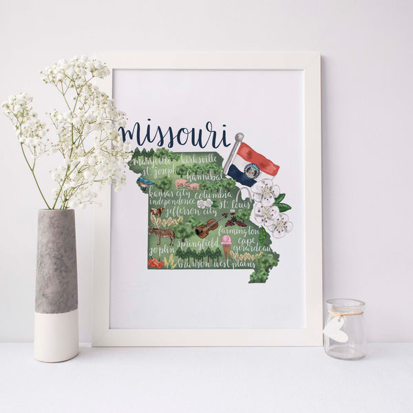 Missouri State Map Art Print - Jetty Home
