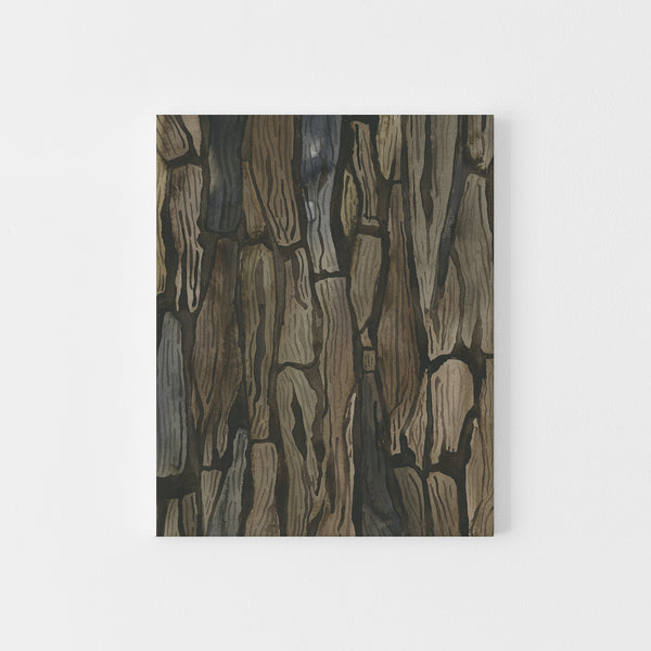 Watercolor Tree Bark Painting Wall Art Print or Canvas - Jetty Home