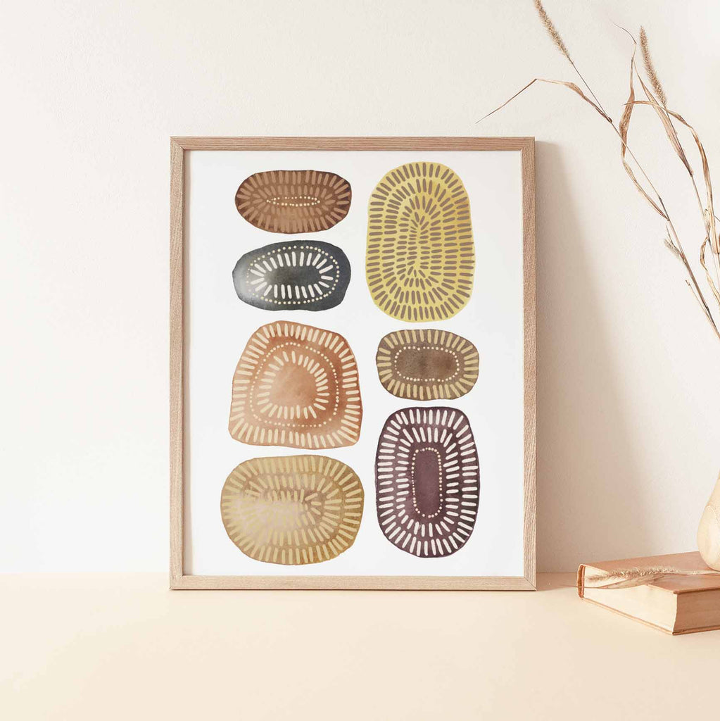 Earthy Circle Journey Wall Art Print or Canvas - Jetty Home