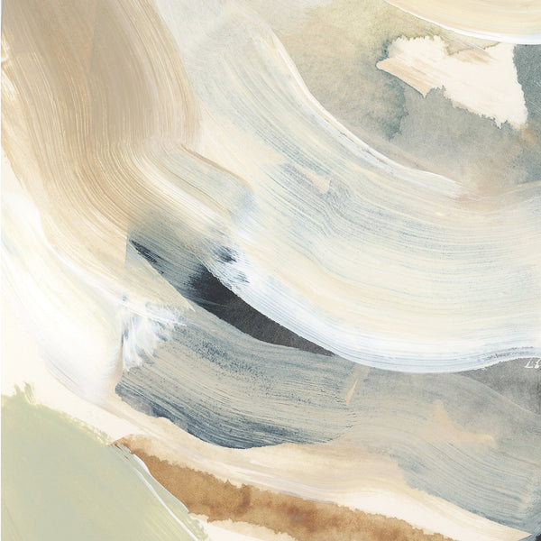 Abstract Painting Neutral Lake Coastal Beige Wall Art Print or Canvas - Jetty Home