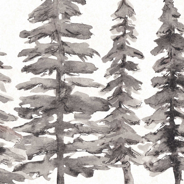 Minimalist Nordic Forest Pine Tree Tops Wall Art Print or Canvas - Jetty Home