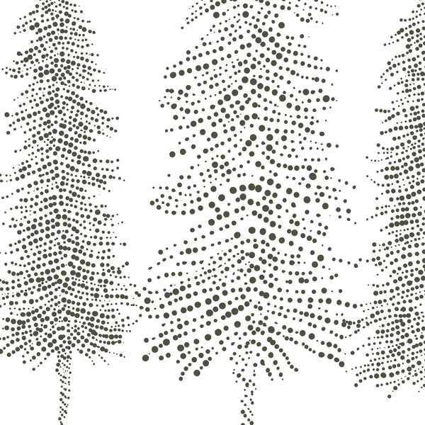 Modern Pine Tree Duo Drawing Wall Art Print or Canvas - Jetty Home