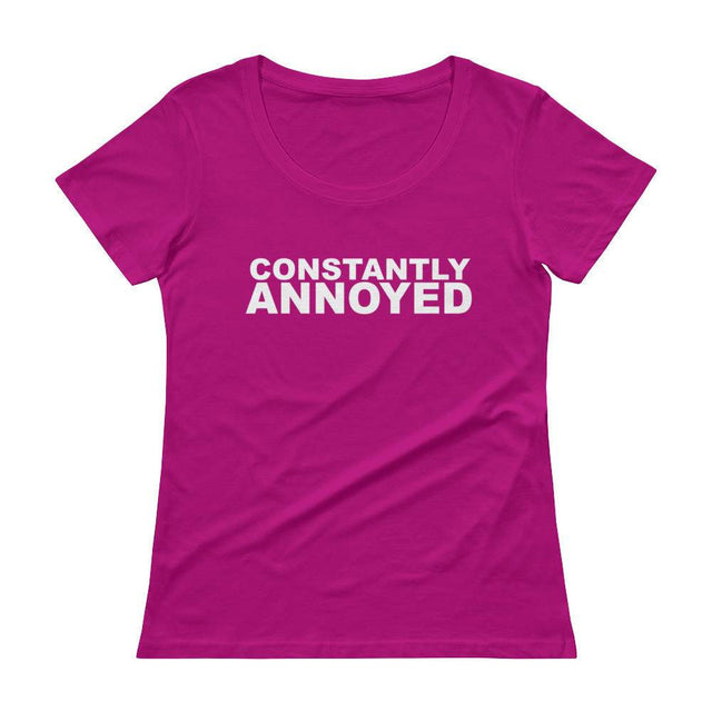 Constantly Annoyed Scoopneck T-Shirt