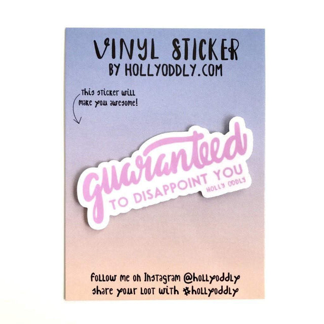 Disappoint You Vinyl Sticker
