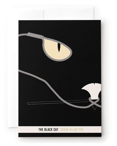 The Black Cat Short Story Greeting Card