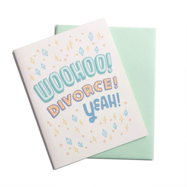 Woohoo Divorce Greeting Card