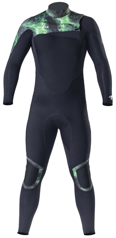 Long John 3.2 mm XConcept Green- Chest Zip
