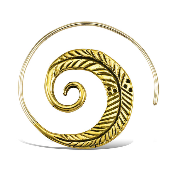<span>BRES-035<span>: </span></span>Leaf Spirals - Silver Post