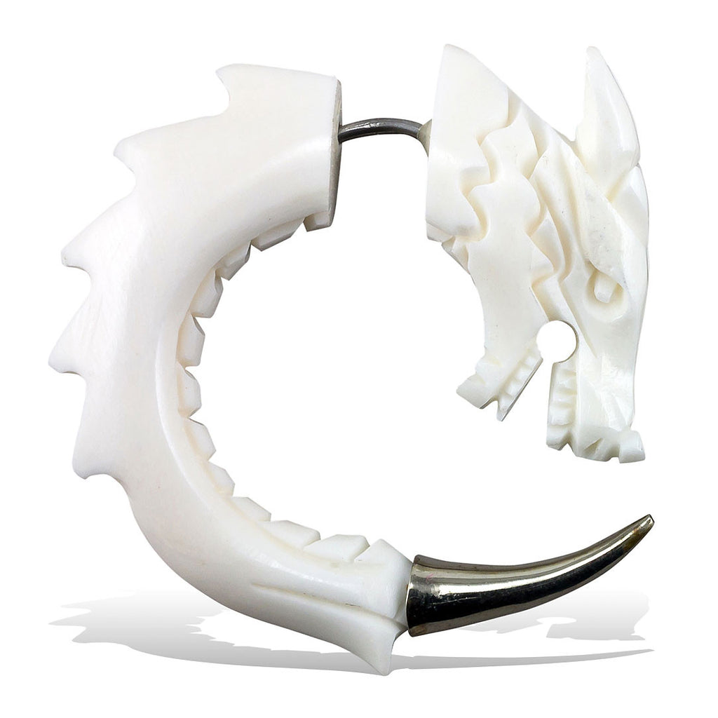 <span>EFB-106<span>: </span></span>Silver Tipped Curled Dragons - Bone
