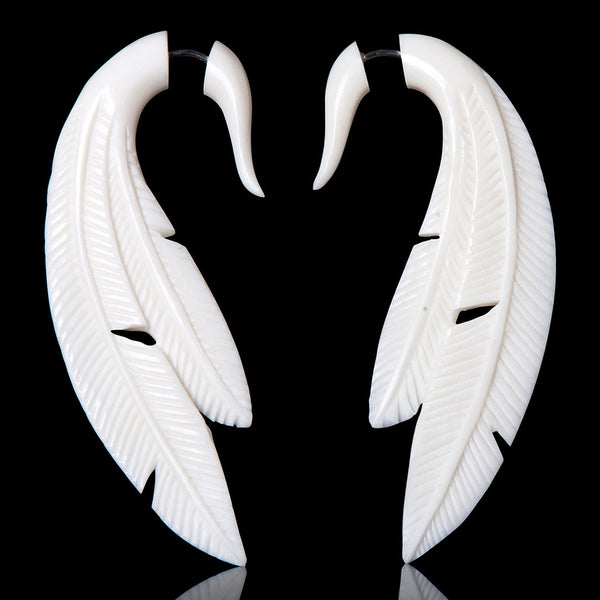 <span>EFB-258<span>: </span></span>Double Feathers - Bone