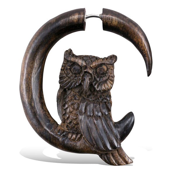 <span>EFW-112<span>: </span></span>Perched Owl - Wood