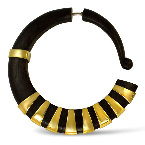 <span>EFW-351<span>: </span></span>Nefertiti Hoops - Wood