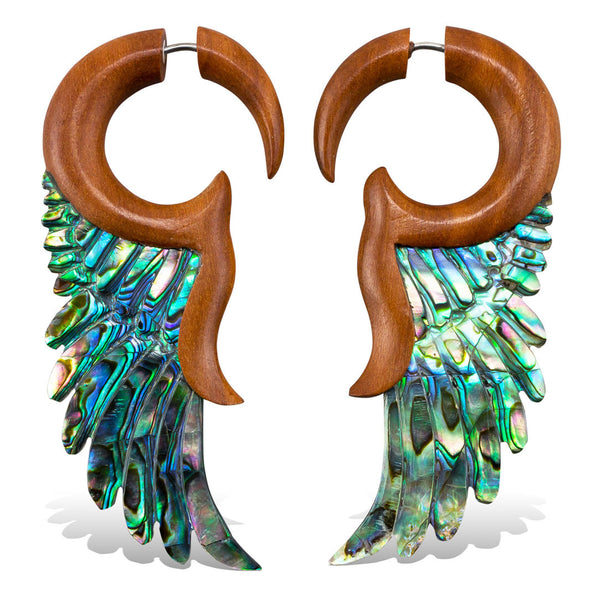 <span>EFWA-278<span>: </span></span>Bella Wings - Wood with Abalone