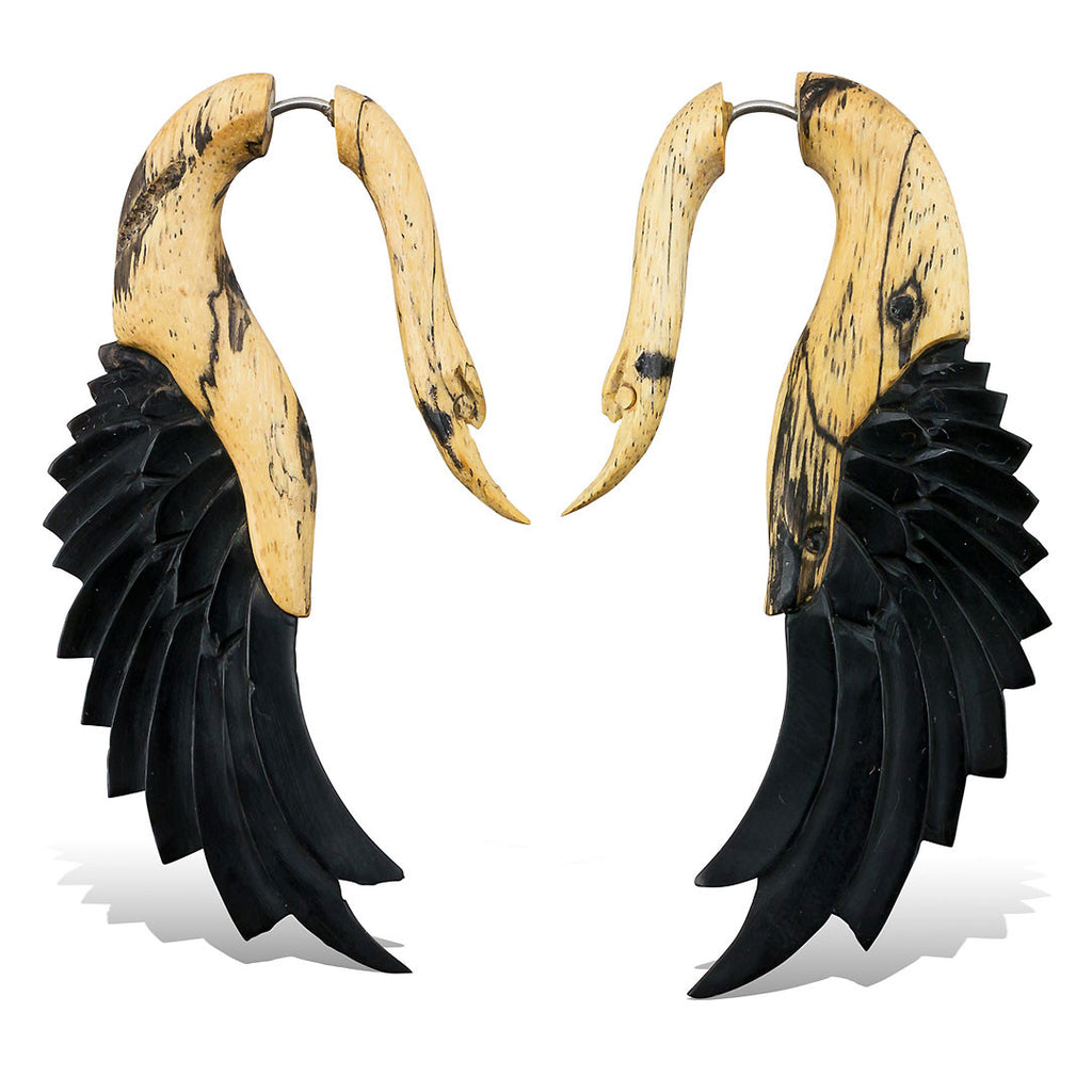 <span>EFWH-834<span>: </span></span>Yafah Swans - Wood with Horn