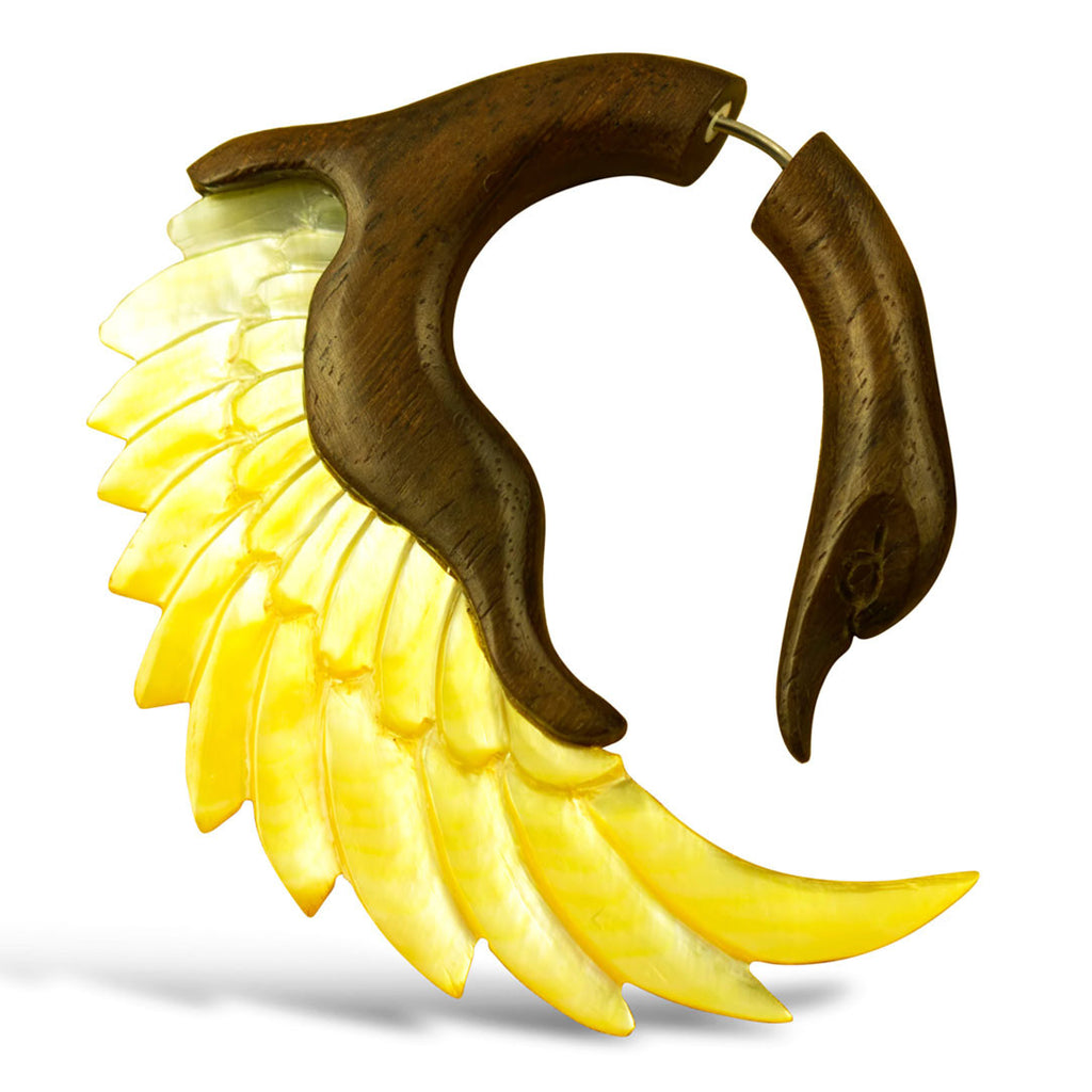 <span>EFWS-341<span>: </span></span>Sankofa Swans - Wood with Shell