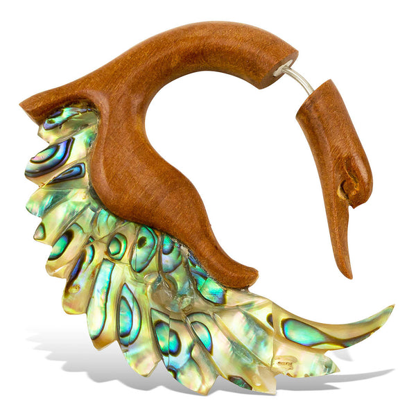 <span>EFWA-341<span>: </span></span>Sankofa Swans - Wood with Abalone