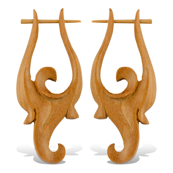 <span>ERW-737<span>: </span></span>Jaqueline Earrings - Wood