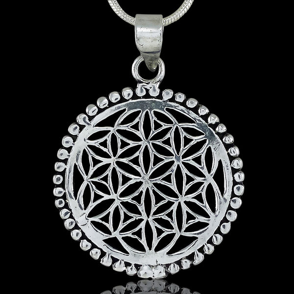 <span>PAS-005<span>: </span></span>Eternal Flower - Silver Pendant