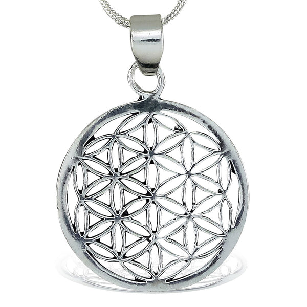 <span>PAS-014<span>: </span></span>Flower of Life - Silver Pendant