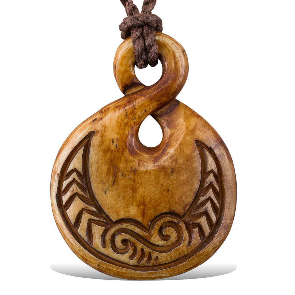<span>PB-011<span>: </span></span>Jezzabel Pendant - Stained Bone