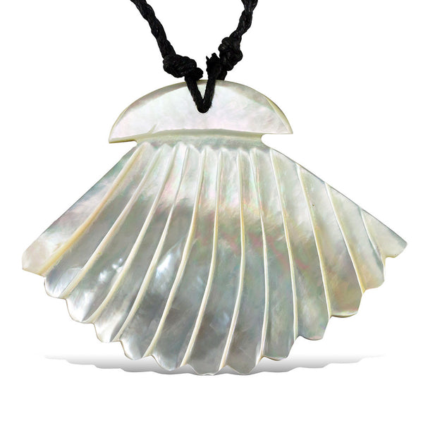 Ocean Fan Shell Pendant