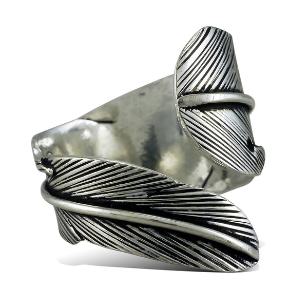 <span>RAS-001<span>: </span></span>Wrapped Leaf Ring - Silver