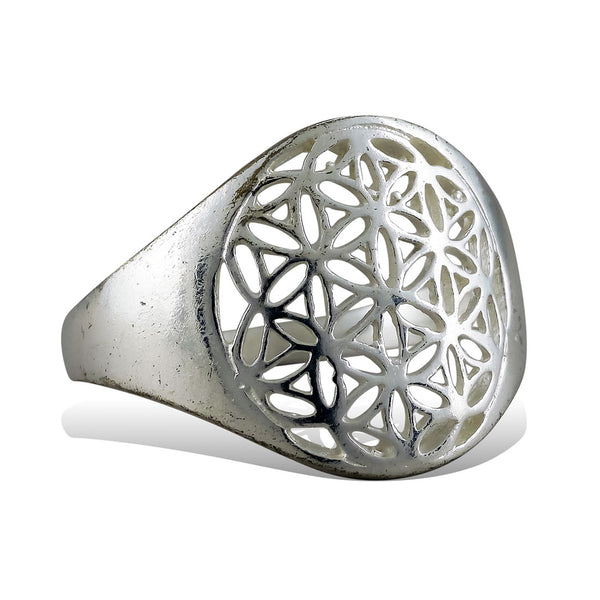 <span>RAS-165<span>: </span></span>Flower of Life Ring - Silver